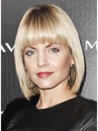 Cool Blonde Lace Front Chin Length Mena Suvari Wigs