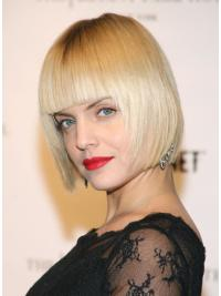 Great Straight Bobs Blonde Short Wigs