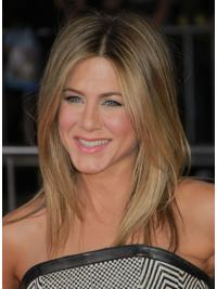 Modern Blonde Straight Shoulder Length Jennifer Aniston Wigs