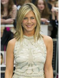 Perfect Blonde Straight Shoulder Length Jennifer Aniston Wigs