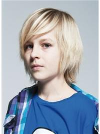 Cheapest Blonde Straight Chin Length Kids Wigs