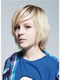 Blonde Straight Chin Length Kids Wigs