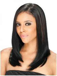 Radiant Brown Straight Long U Part Wigs