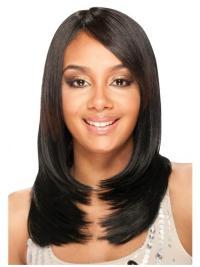 Gentle Black Straight Long U Part Wigs