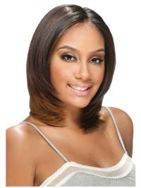 Cool Brown Straight Shoulder Length U Part Wigs