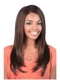 Shining Brown Straight Long U Part Wigs