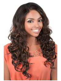 Glamorous Brown Wavy Long U Part Wigs