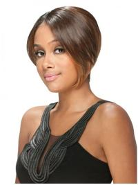 Stylish Brown Straight Short U Part Wigs