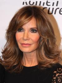 Jacklyn Smith High Quality Shoulder-length Layered Wavy Lace Human Hair Wig