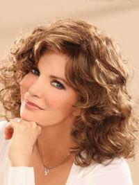 Jaclyn Smith Silky and Gorgeous Mid-length Wavy Lace Synthetic Wig 14 Inches