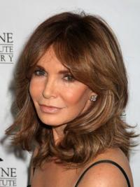 Jacklyn Smith Beautiful and Feminine Shoulder-hitting Layered Wavy Lace Front Human Hair Wig