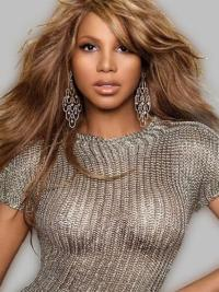 Long Blonde Wavy Capless Celebrity Toni Braxton Wigs 2015