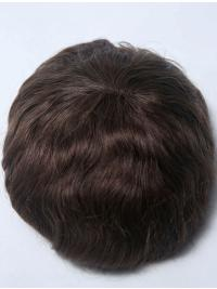 PU Base With French Lace In The Top Man Toupees
