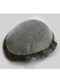 Indian Remy Hair Invisible Thin Skin PU Men Toupee