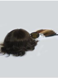 Human Hair Full PU Thin Skin Man Toupees