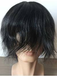 Man Toupees Full French Lace With Transparent Poly All Around Perimeter