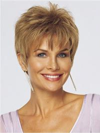 Best Monofilament Straight Cropped Lace Front Wigs