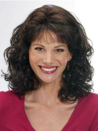 Exquisite Brown Wavy Shoulder Length Classic Wigs