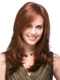 Auburn Layered Straight Fashionable Long Wigs