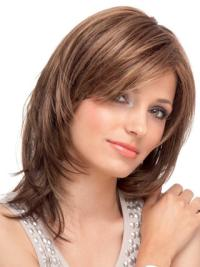 Traditiona Auburn Lace Front Shoulder Length Human Hair Wigs