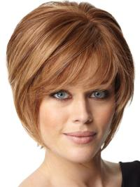 Best Auburn Straight Short Celebrity Wigs