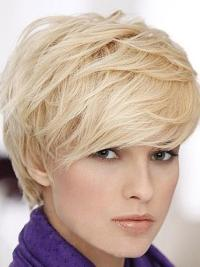 Stylish Blonde Straight Short Human Hair Wigs