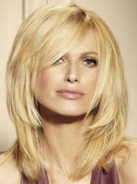 Beautiful Blonde Lace Front Shoulder Length Remy Human Lace Wigs