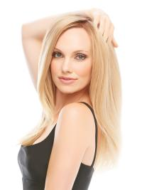 Best Blonde Monofilament Remy Human Hair Long Wigs