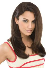 Easeful Brown Straight Long Synthetic Wigs