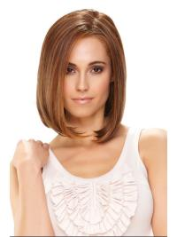 Monofilament Shining Straight Synthetic Medium Wigs