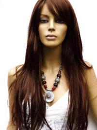 Ideal Auburn Lace Front Remy Human Hair Long Wigs