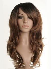 Nice Brown Wavy Long Celebrity Wigs