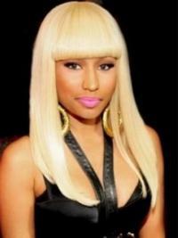 Suitable Blonde Straight Long Nicki Minaj Wigs