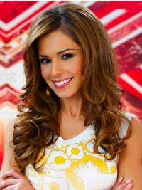 Style Brown Curly Long Cheryl Cole Wigs