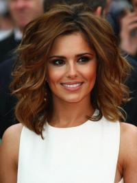 Flexibility Auburn Wavy Shoulder Length Cheryl Cole Wigs