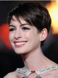 Great Lace Front Straight Cropped Anne Hathaway Wigs