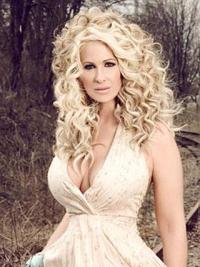 Convenient Blonde Curly Long Kim Zolciak Wigs