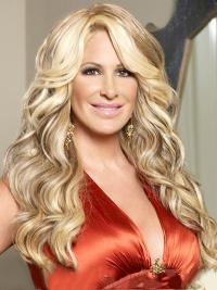 Flexibility Blonde Wavy Long Kim Zolciak Wigs