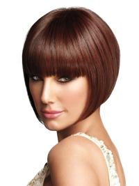 Popular Auburn Straight Chin Length Bob Wigs