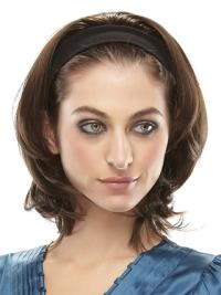 Beautiful Synthetic Brown Straight Medium Wigs