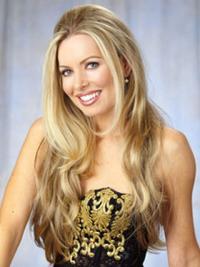 Nice Blonde Wavy Long Celebrity Wigs