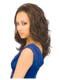 Brown Wavy Indian Remy Hair Ideal Long Wigs