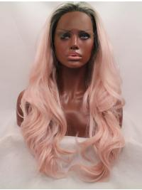 """Synthetic Ombre/2 Tone 26"""" Wavy Lace Front Without Bangs Long Wigs"""