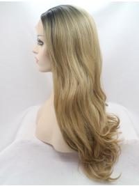 """Synthetic Ombre/2 Tone 24"""" Wavy Lace Front Without Bangs Long Wigs"""