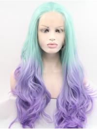 """25"""" Curly Ombre/2 Tone Layered Synthetic Long Lace Front Wigs"""