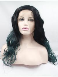 """Synthetic Long Ombre/2 Tone Lace Front 23"""" Without Bangs Curly Wigs"""