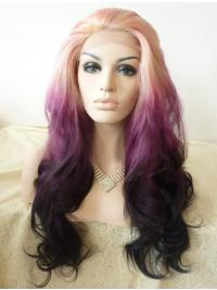 """Layered 24"""" Wavy Ombre/2 Tone Long Lace Front Synthetic Wigs"""