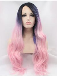 """30"""" Wavy Synthetic Ombre/2 Tone Without Bangs Long Lace Front Wigs"""
