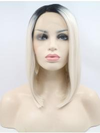 """10"""" Straight Synthetic Ombre/2 Tone Bobs Chin Length Lace Front Wigs"""