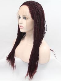 """20"""" Curly Synthetic Auburn Without Bangs Long Lace Front Wigs"""
